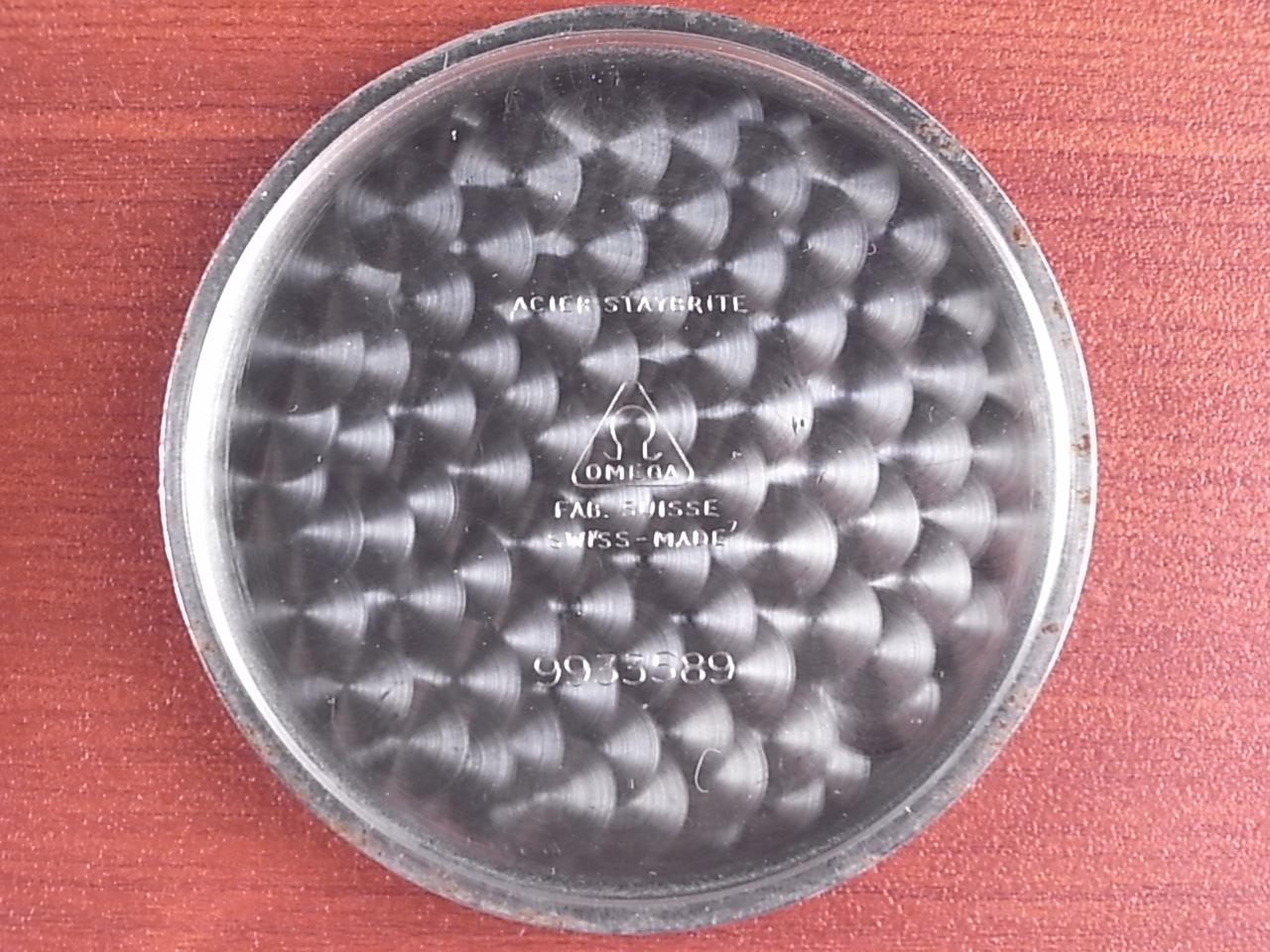 オメガ ポケットウォッチ ブラック/グレー 2トーンダイアル 1940年代の写真6枚目