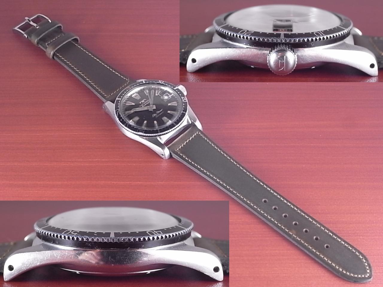 テクノス スカイダイバー ブラックミラーダイアル 30JEWELS 1960年代の写真3枚目