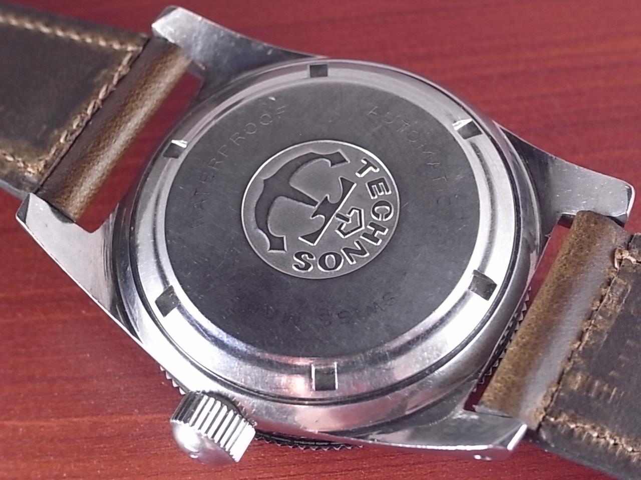 テクノス スカイダイバー ブラックミラーダイアル 30JEWELS 1960年代の写真4枚目