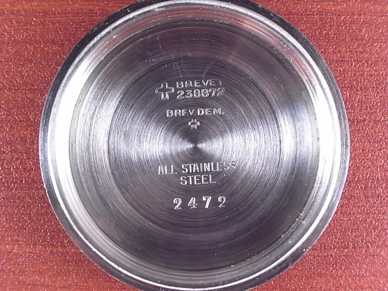 テクノス スカイダイバー ブラックミラーダイアル 30JEWELS 1960年代の写真6枚目