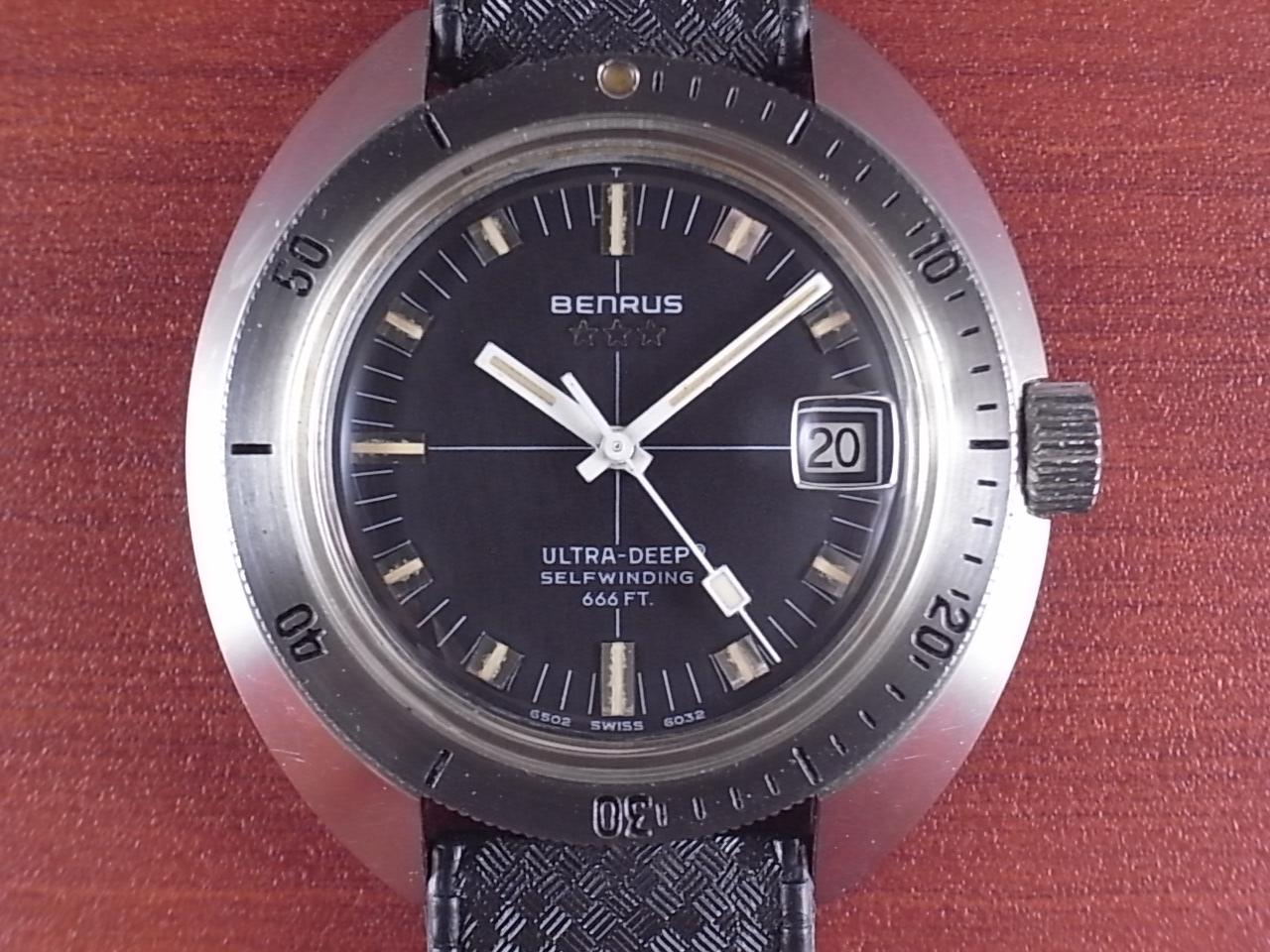 ベンラス ウルトラディープ ダイバーズウォッチ トノーケース 1970年代の写真2枚目