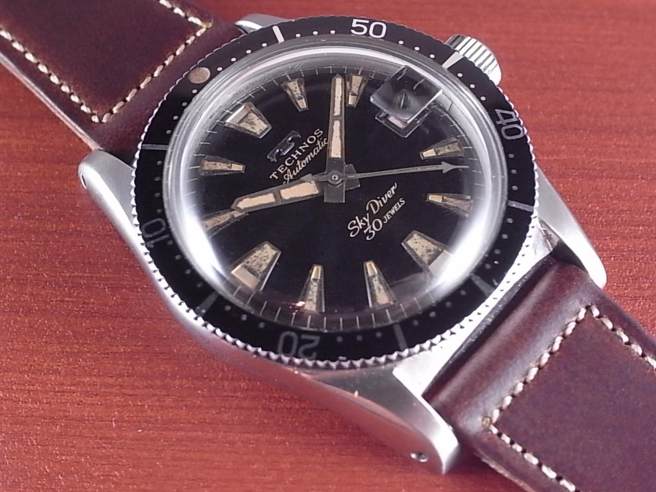 テクノス スカイダイバー 30JEWEL 初期タイプ 1960年代のメイン写真