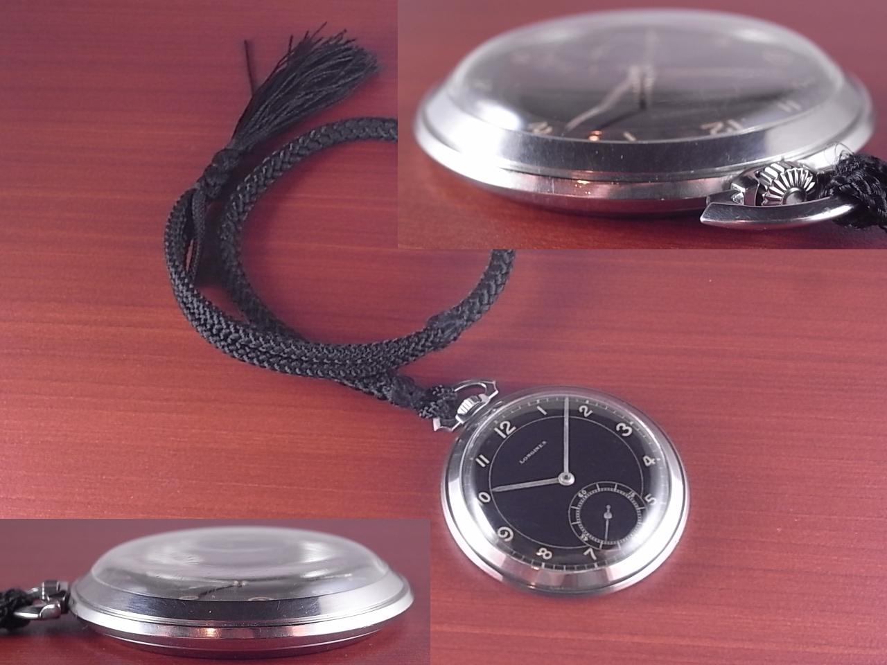 ロンジン ポケットウォッチ ブラックミラーダイアル 1930年代の写真3枚目