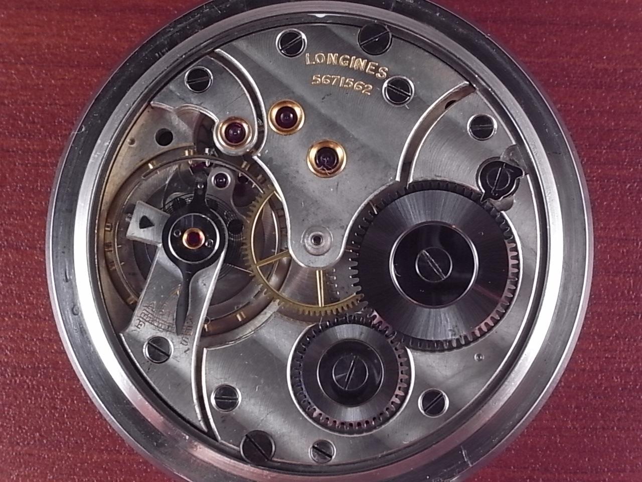 ロンジン ポケットウォッチ ブラックミラーダイアル 1930年代の写真5枚目