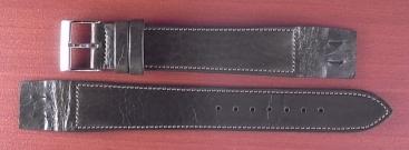 艶ありヌメ牛ステア オープンエンド 革ベルト オリーブ 16、18、20mm CC-032b