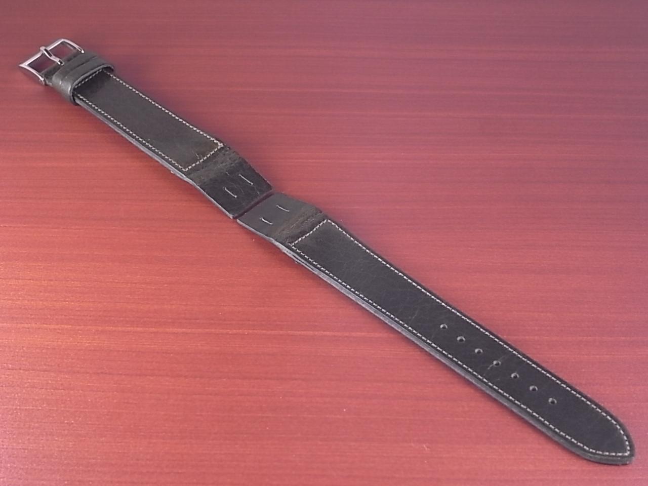 艶ありヌメ牛ステア オープンエンド 革ベルト オリーブ 16、18、20mm CC-032bのメイン写真