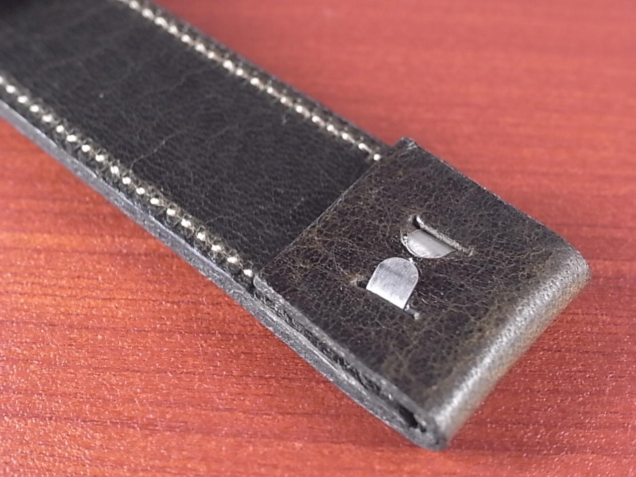艶ありヌメ牛ステア オープンエンド 革ベルト オリーブ 16、18、20mm CC-032bの写真5枚目