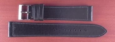 艶ありヌメ牛ステア 革ベルト ブラック 16、17、18、19、20、21、22mm CC-034a