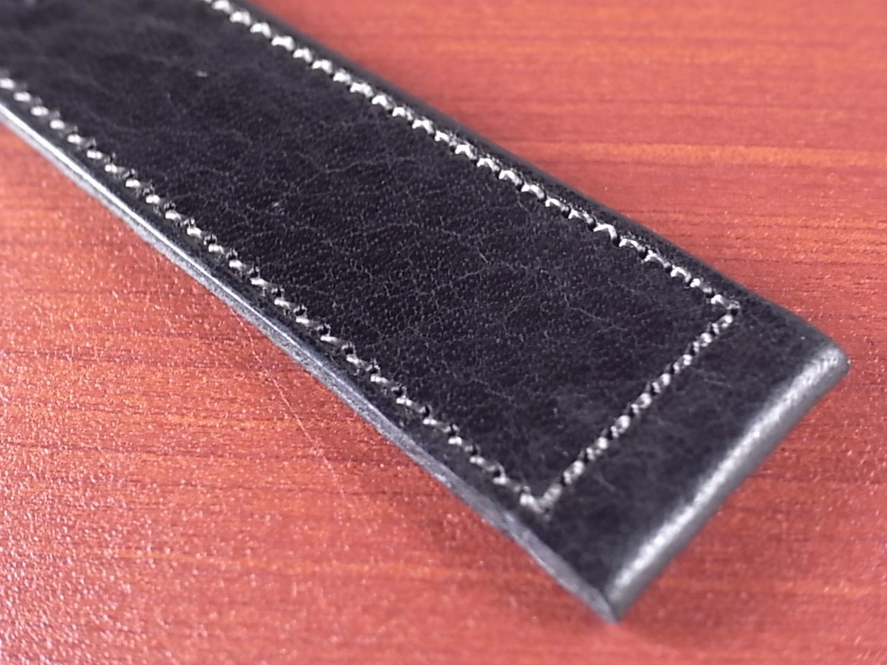 艶ありヌメ牛ステア 革ベルト ブラック 16、17、18、19、20、21、22mm CC-034aの写真5枚目