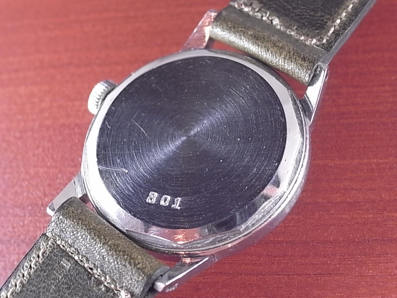 ミネルバ センターセコンド ブラックミラーダイアル Cal.49 1950年代の写真4枚目