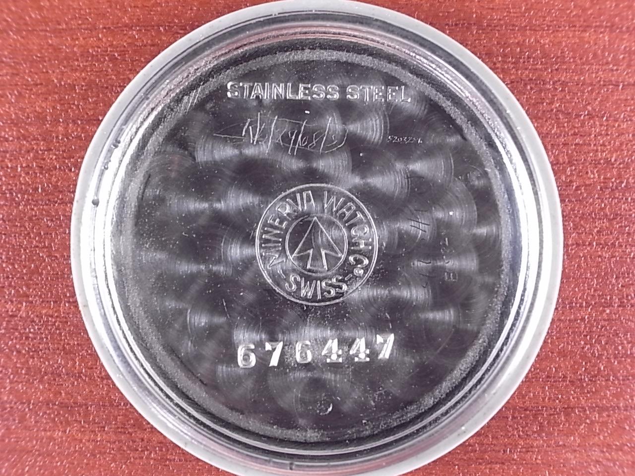 ミネルバ センターセコンド ブラックミラーダイアル Cal.49 1950年代の写真6枚目