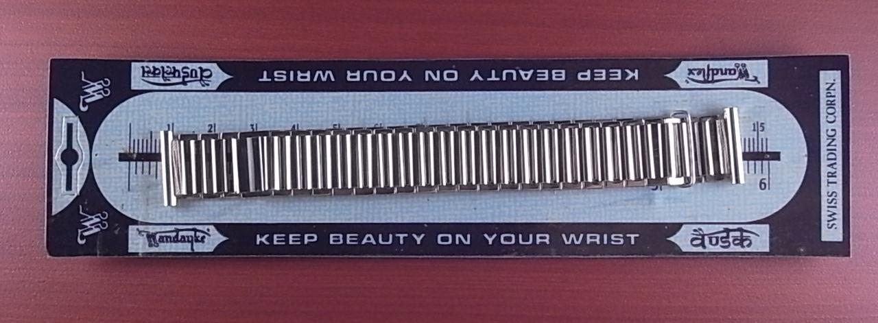 バンブーブレス SS N.O.S. 未使用品 リンク幅15.5mm 取付幅18mm 1940年代