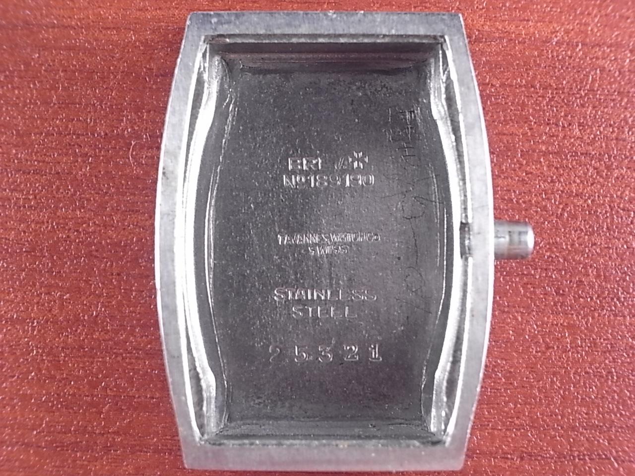タバン トノーケース 4つビス防水 ボンクリップ バンブーブレス付き 1940年代の写真6枚目