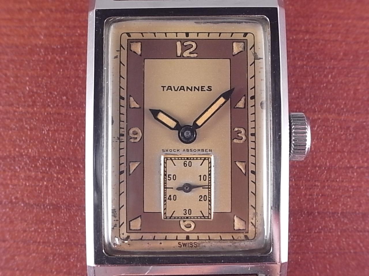 タバン レクタンギュラ― アールデコ 4つビス防水ケース 1940年代の写真2枚目