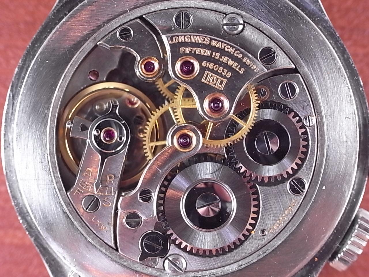 ロンジン リンドバーグ アワーアングルウォッチ レバー式 1940年代の写真5枚目