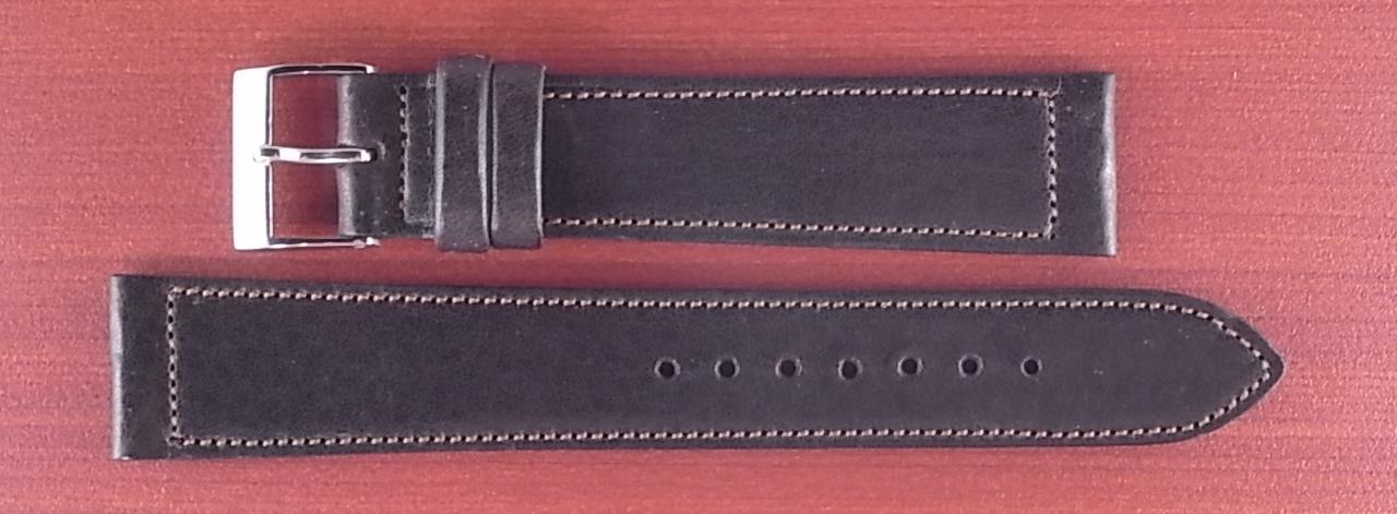 艶ありヌメ牛ステア 革ベルト ダークブラウン 16、17、18、19、20、21、22mm CC-035a