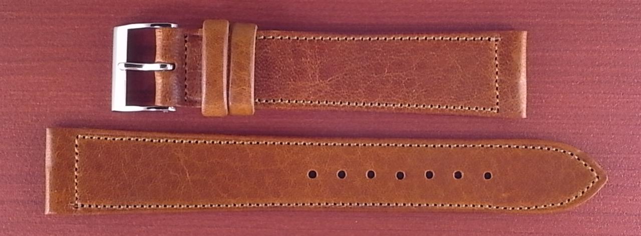 艶ありヌメ牛ステア 革ベルト ブラウン 16、17、18、19、20、21、22mm CC-036a