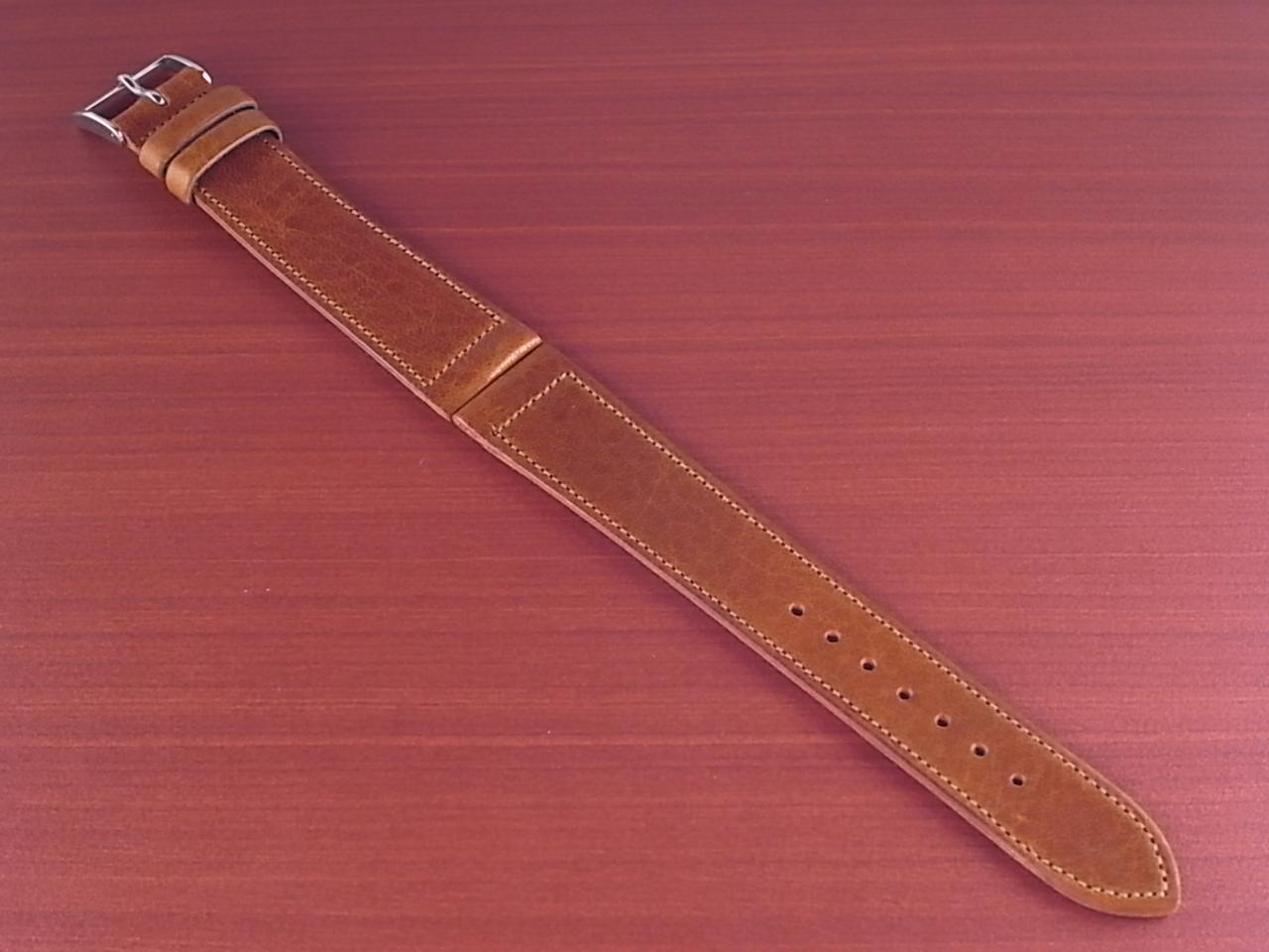艶ありヌメ牛ステア 革ベルト ブラウン 16、17、18mm CC-036aのメイン写真