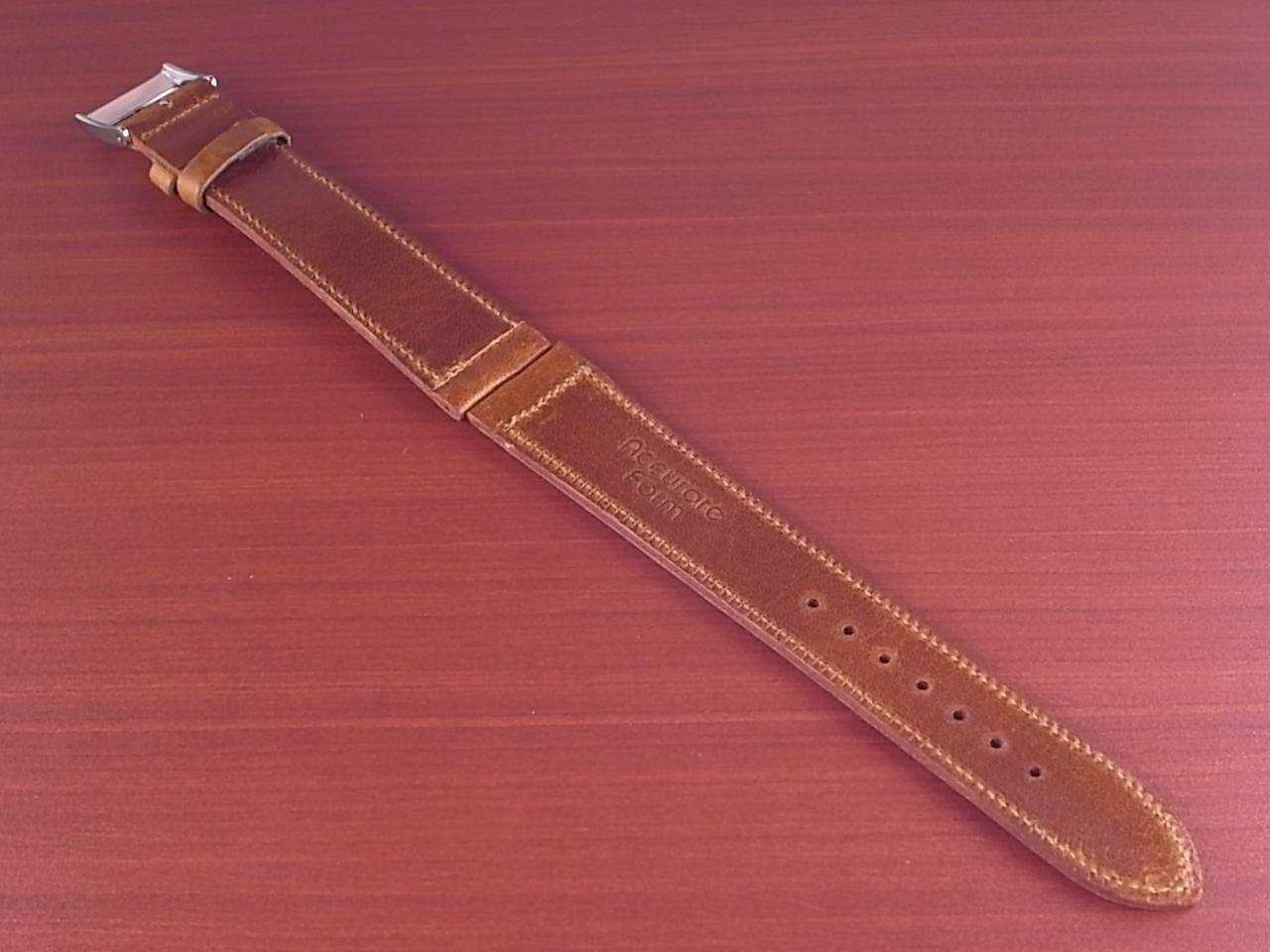 艶ありヌメ牛ステア 革ベルト ブラウン 16、17、18mm CC-036aの写真2枚目