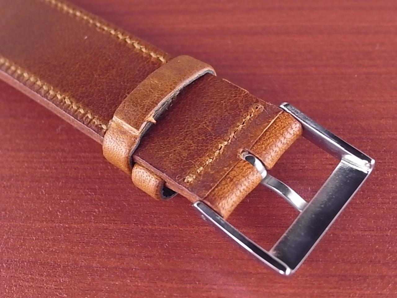 艶ありヌメ牛ステア 革ベルト ブラウン 16、17、18mm CC-036aの写真4枚目