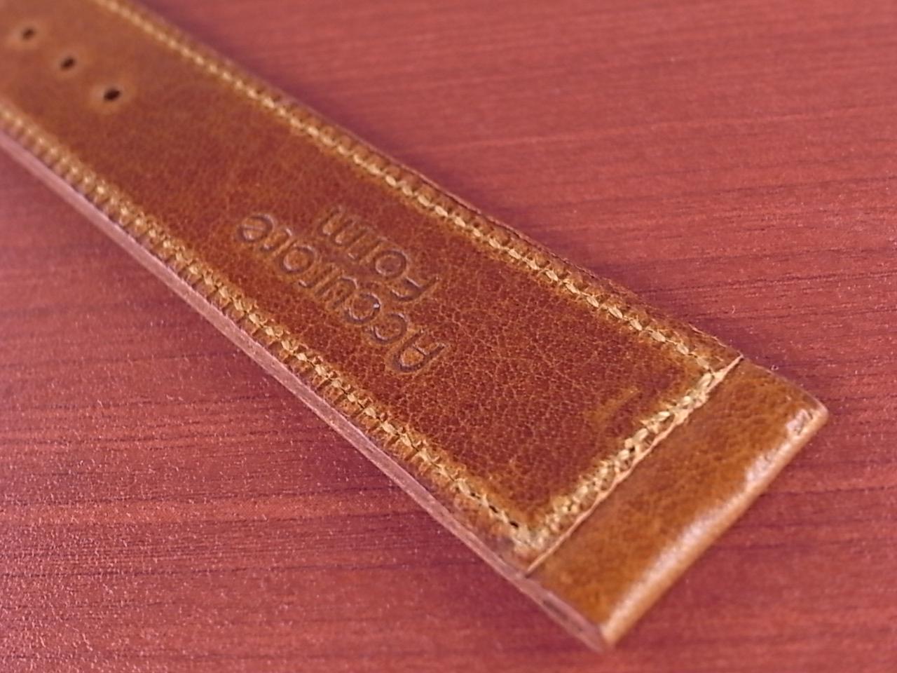 艶ありヌメ牛ステア 革ベルト ブラウン 16、17、18mm CC-036aの写真6枚目