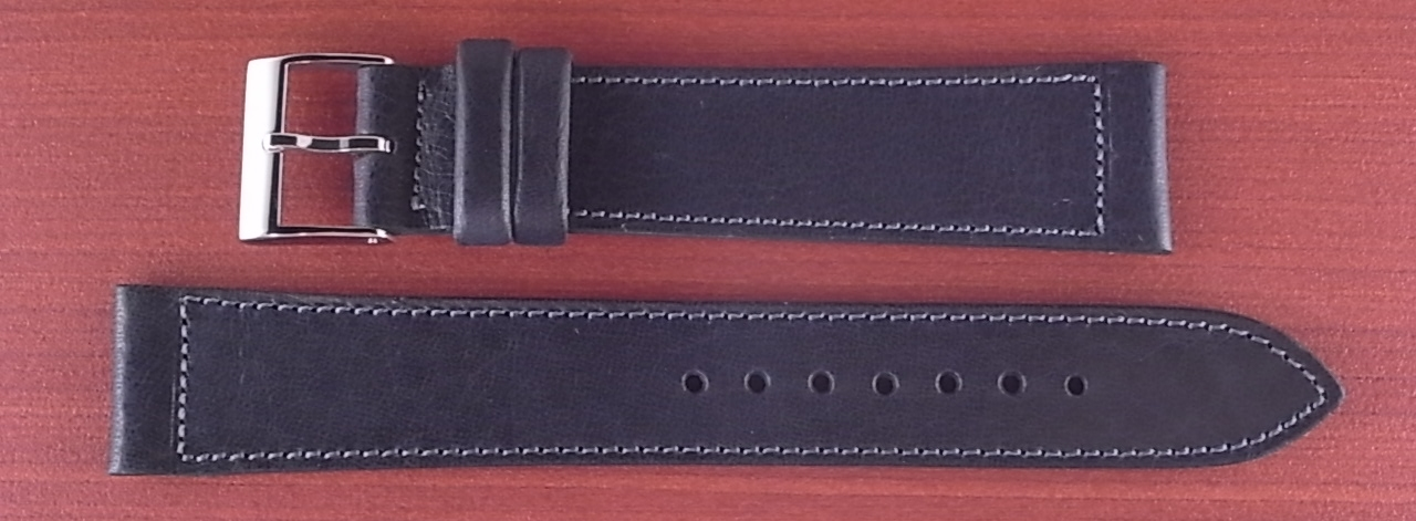 艶ありヌメ牛ステア 革ベルト ネイビー 16、17、18、19、20mm CC-037a