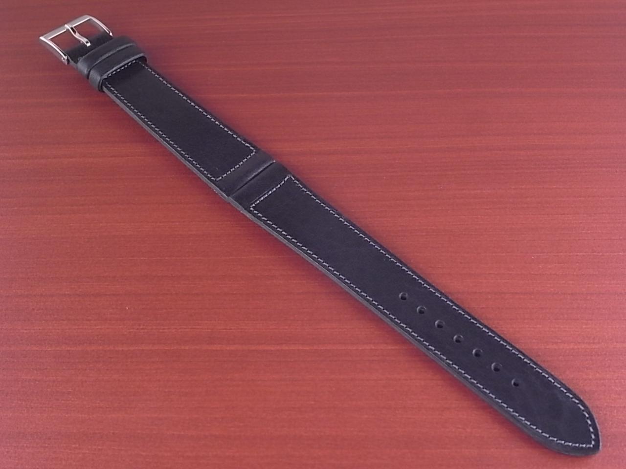 艶ありヌメ牛ステア 革ベルト ネイビー 16、17、18mm CC-037aのメイン写真