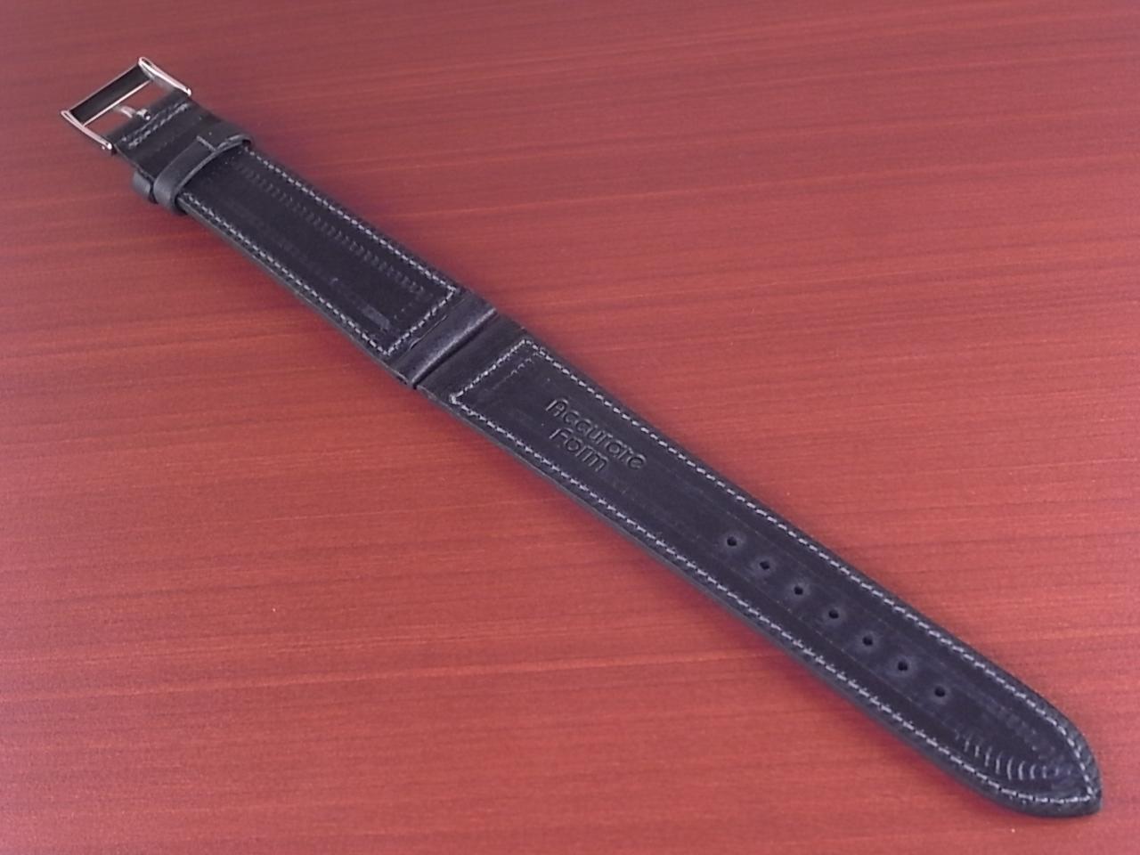 艶ありヌメ牛ステア 革ベルト ネイビー 16、17、18mm CC-037aの写真2枚目