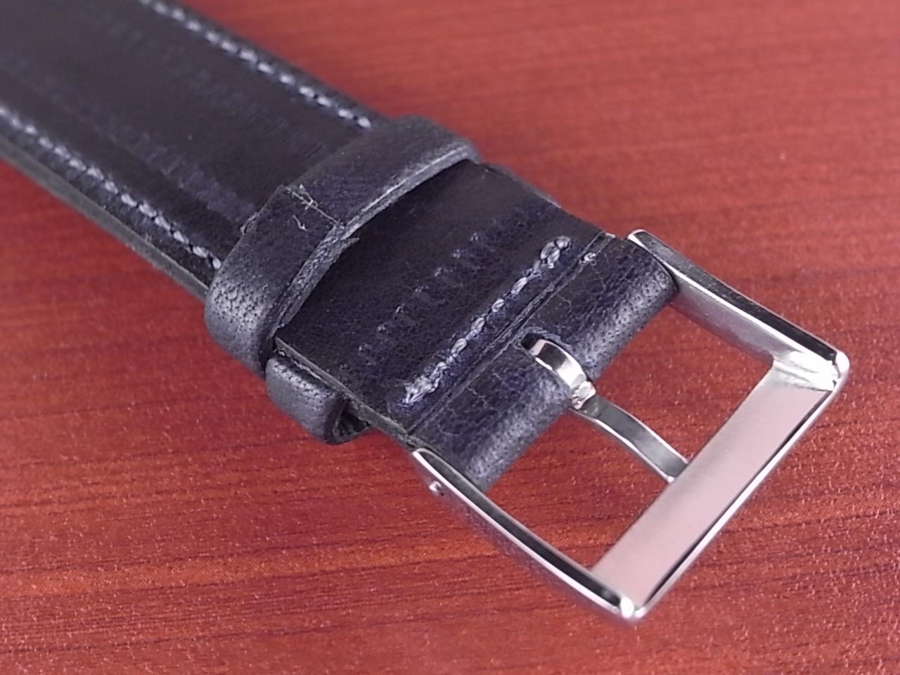 艶ありヌメ牛ステア 革ベルト ネイビー 16、17、18mm CC-037aの写真4枚目