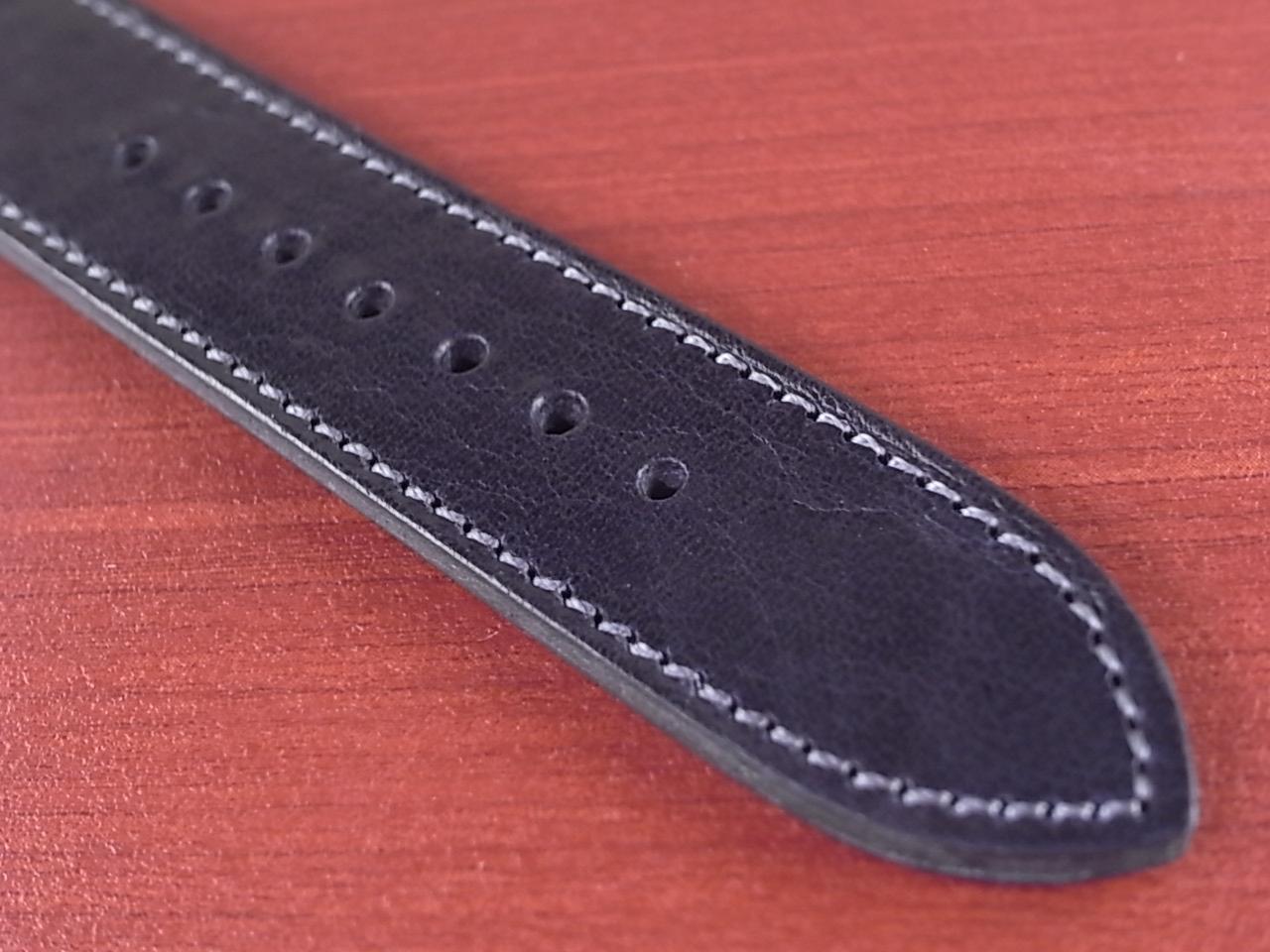 艶ありヌメ牛ステア 革ベルト ネイビー 16、17、18mm CC-037aの写真5枚目