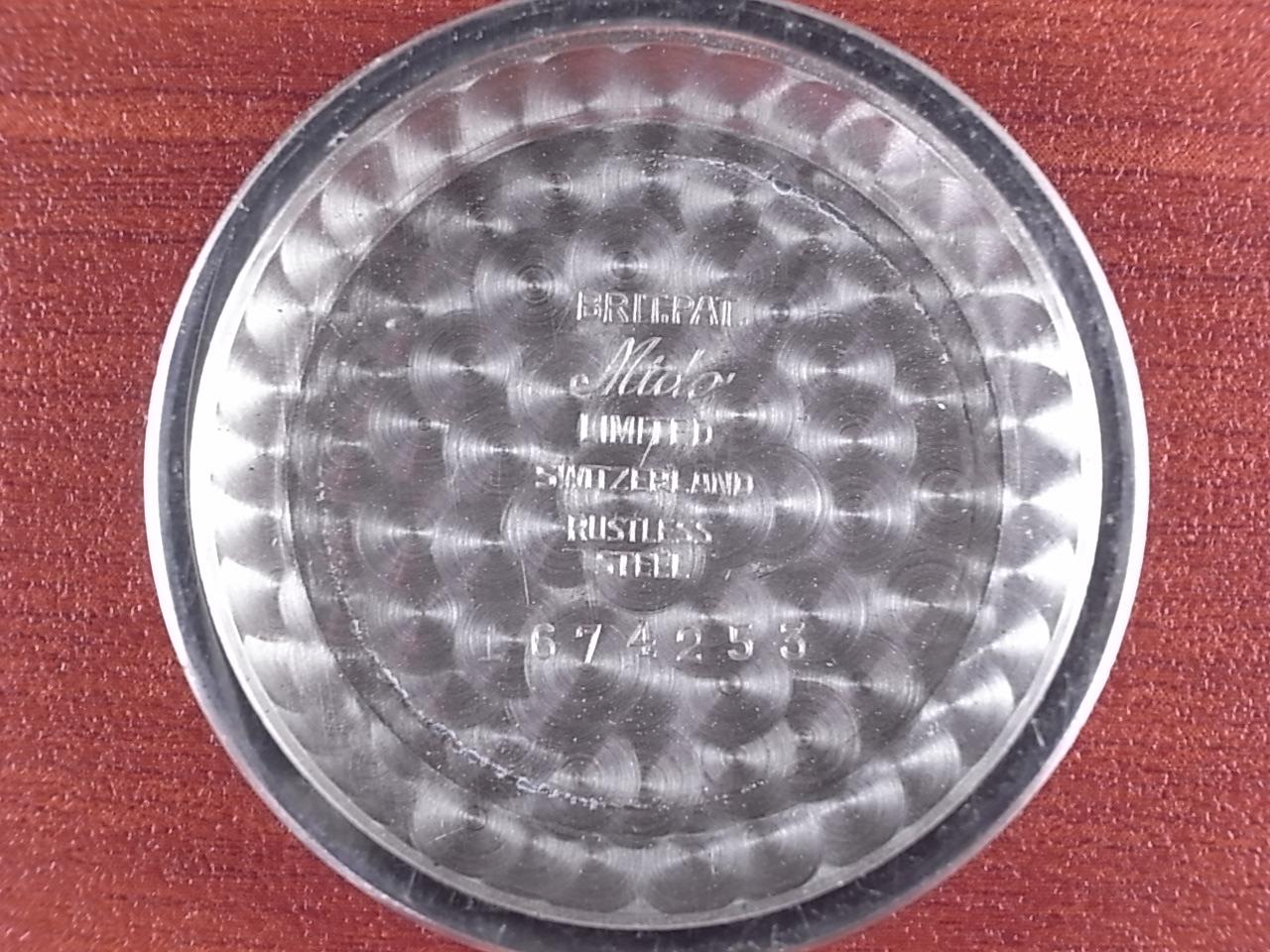 ミドー マルチフォート ブラックミラーダイアル 全回転ローター 1950年代の写真6枚目