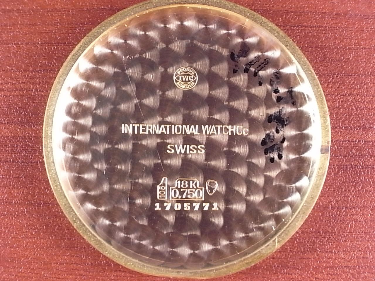 IWC インター 18KPG キャリバー89 リボンラグ 尾錠付 1960年代の写真6枚目