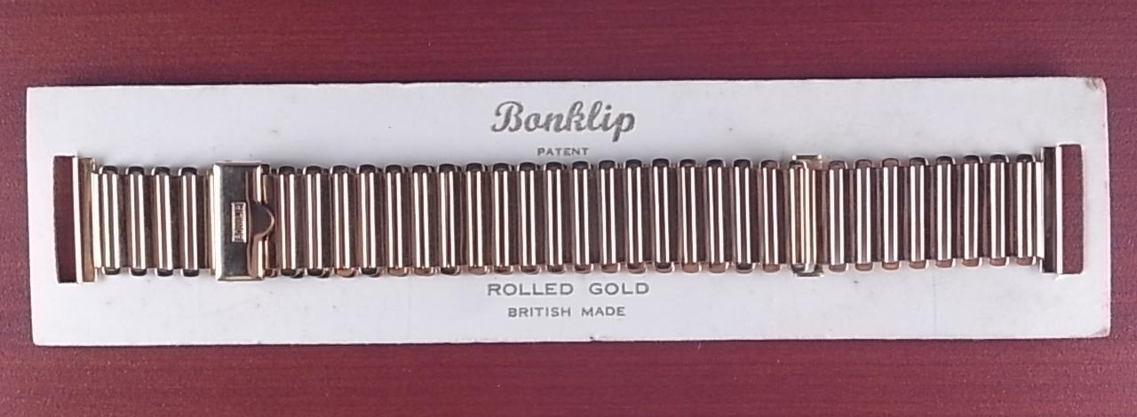ボンクリップ バンブーブレス YGF 18mm N.O.S. 台紙付き 1940年代