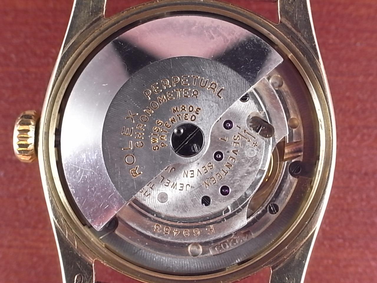 ロレックス 14KYG セミバブルバック スーパーオイスター ギョーシェDL 1950年代の写真5枚目