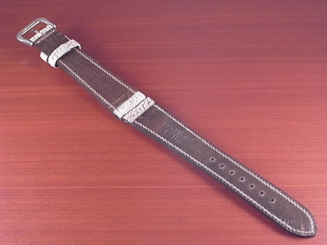 エレファント革ベルト ヴィンテージベージュ 18、20mm CBE-01aの写真2枚目