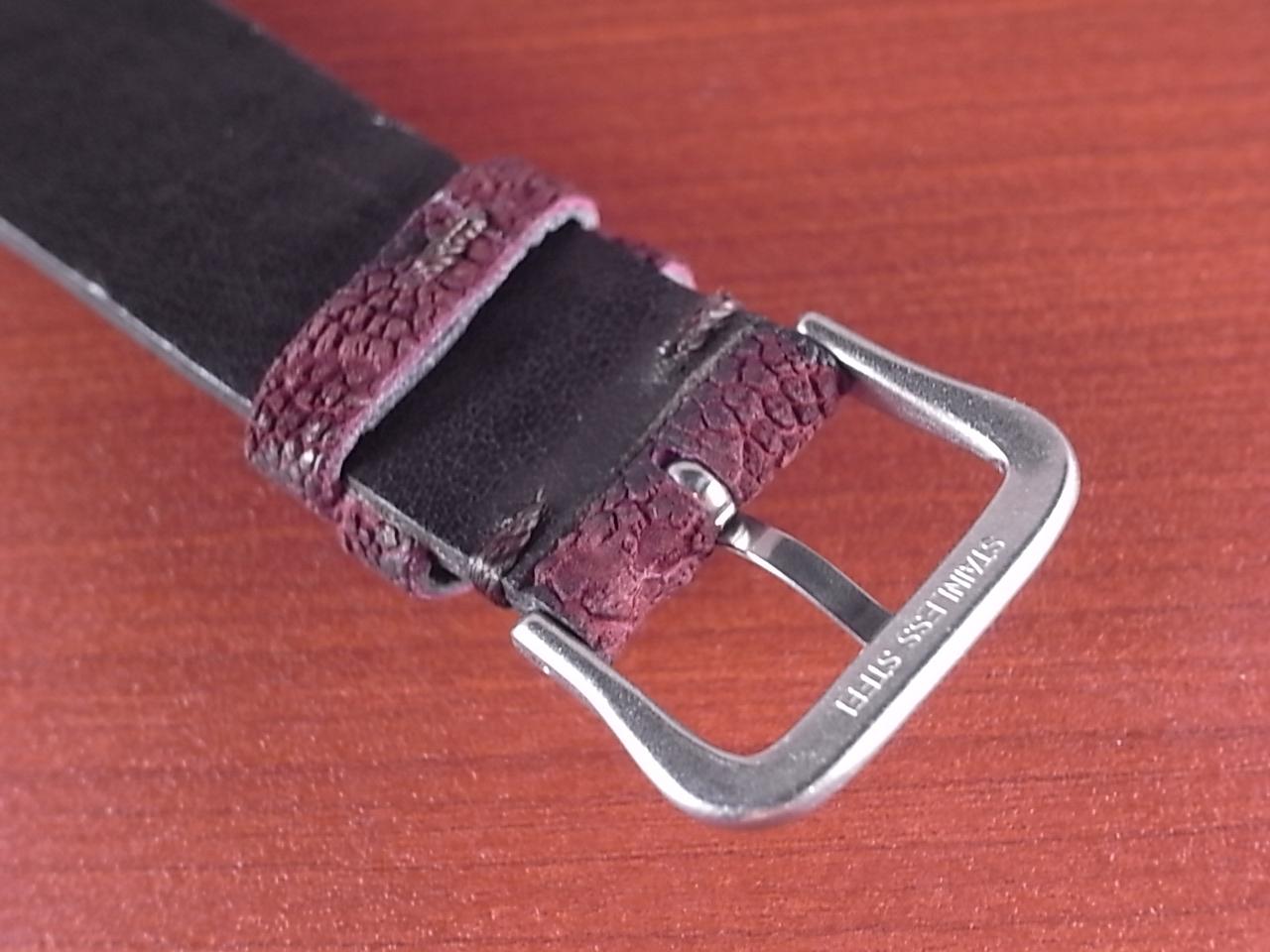 エレファント革ベルト ボルドー 18、20mm CBE-02aの写真4枚目