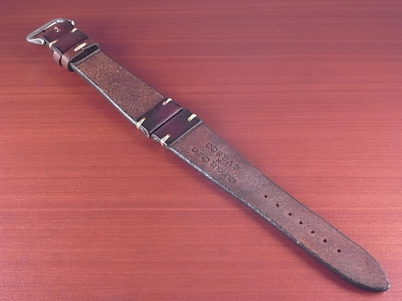 C × V  牛ヌメ革ベルト レギュラー ブラウン 18、20mm CBV-01a の写真2枚目