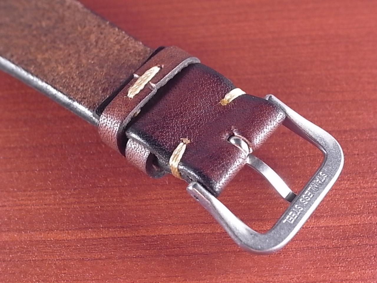 C × V  牛ヌメ革ベルト レギュラー ブラウン 18、20mm CBV-01a の写真4枚目