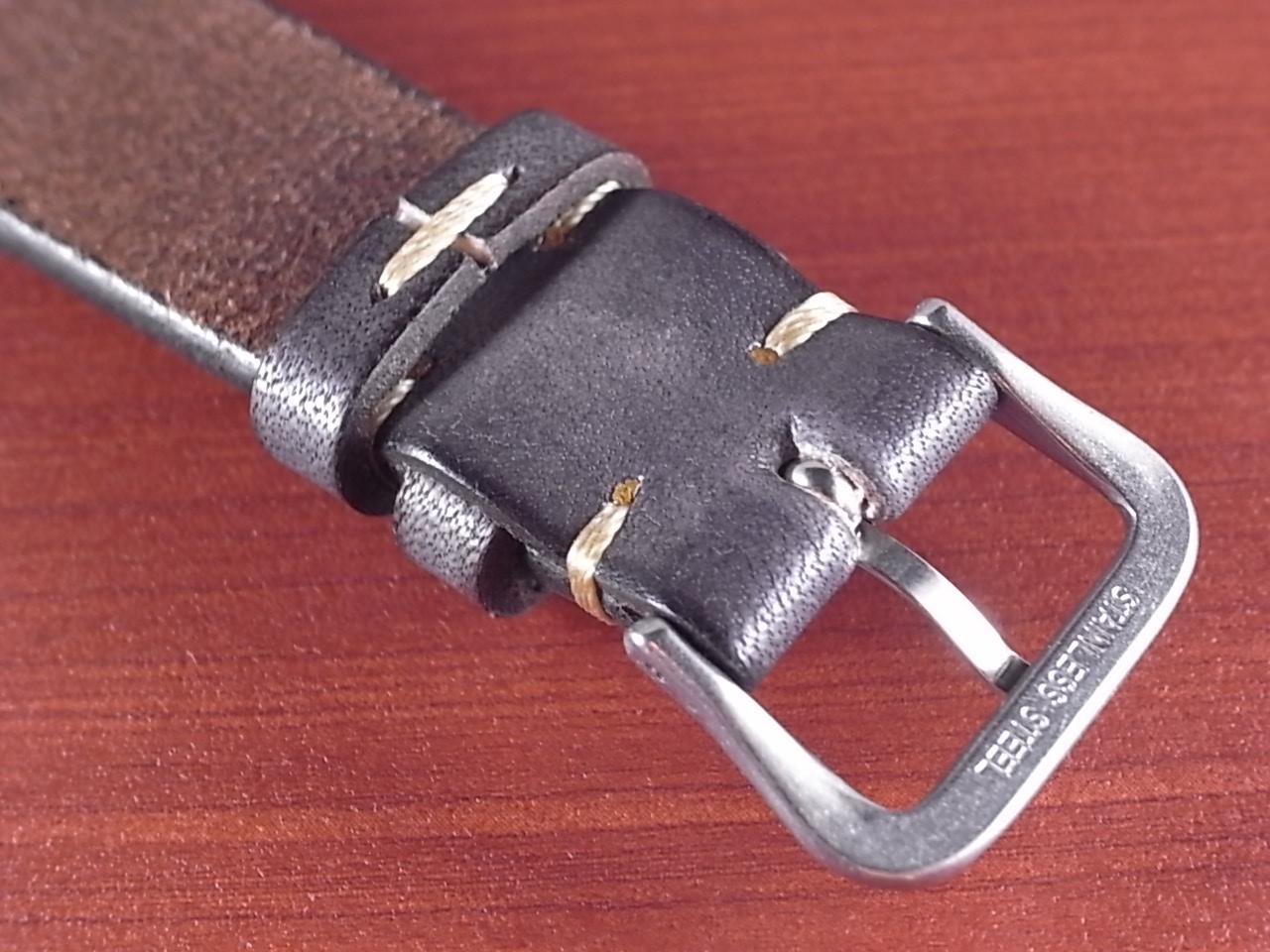 C × V  牛ヌメ革ベルト レギュラー グレー 18、20mm CBV-02a の写真4枚目