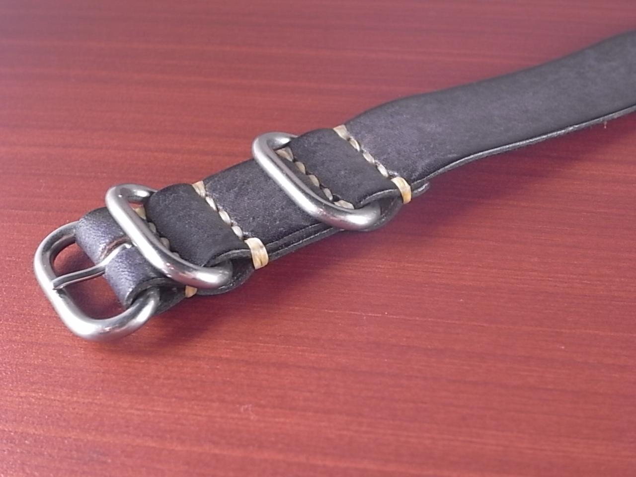 C × V  牛ヌメ革ベルト 引き通し グレー 18、20mm CBV-06Opの写真5枚目