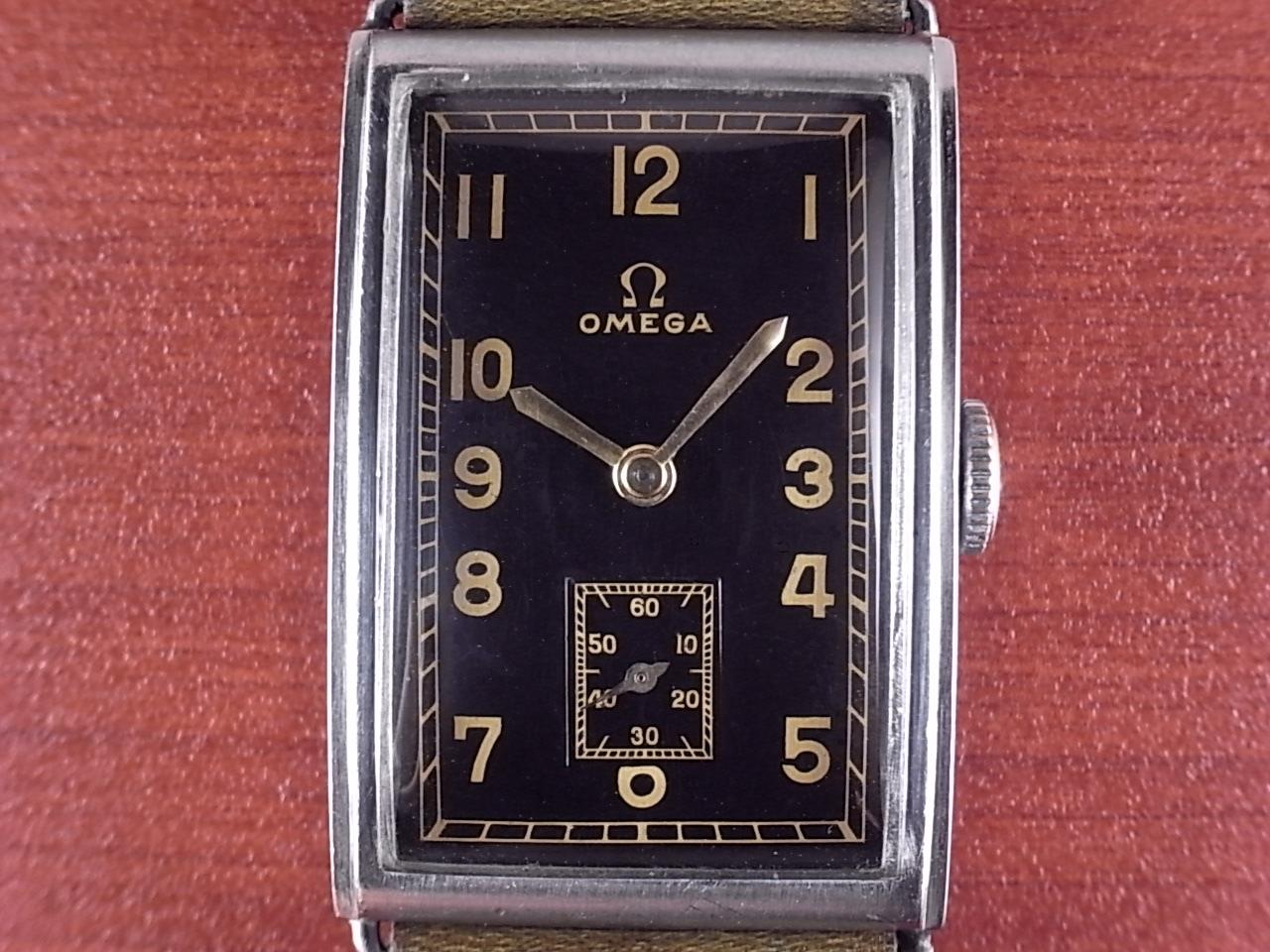 オメガ キャリバー20F レクタンギュラー ブラックミラー 1930年代の写真2枚目