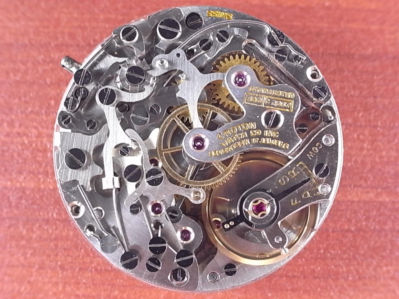 クロトン クロノグラフ バルジュー77 クラムシェルケース 1940年代の写真5枚目