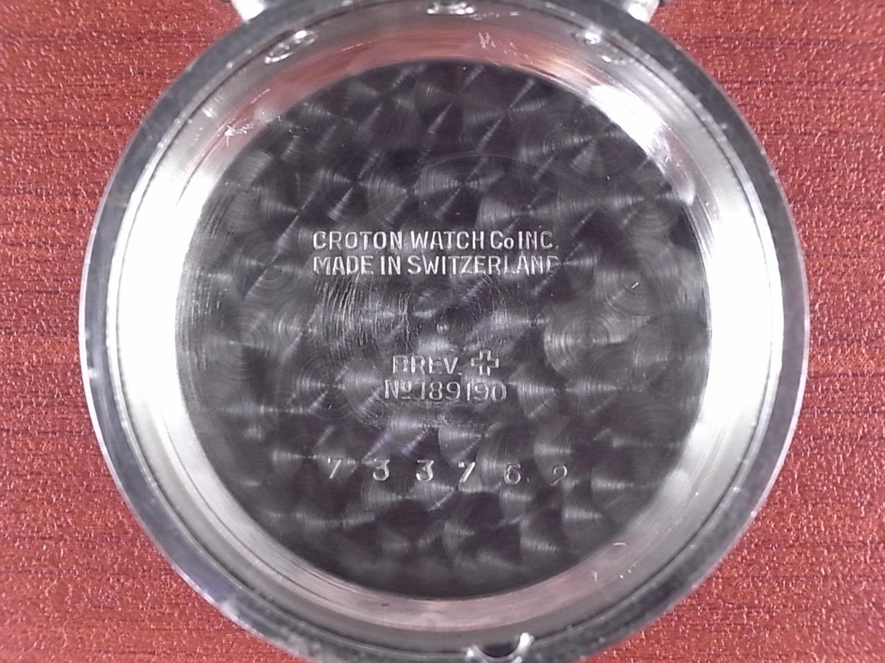 クロトン クロノグラフ バルジュー77 クラムシェルケース 1940年代の写真6枚目