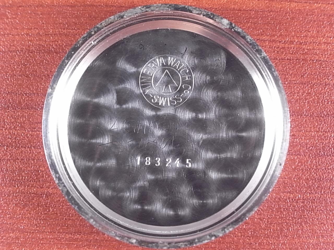 ミネルバ クロノグラフ Cal.20CH ピンクダイアル 1940年代の写真6枚目