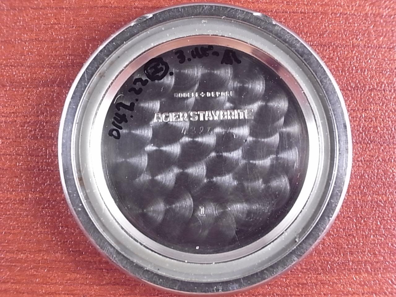 レオニダス ベビークロノグラフ バルジュー69 渦巻きタキ スナップバック防水 1940年代の写真6枚目