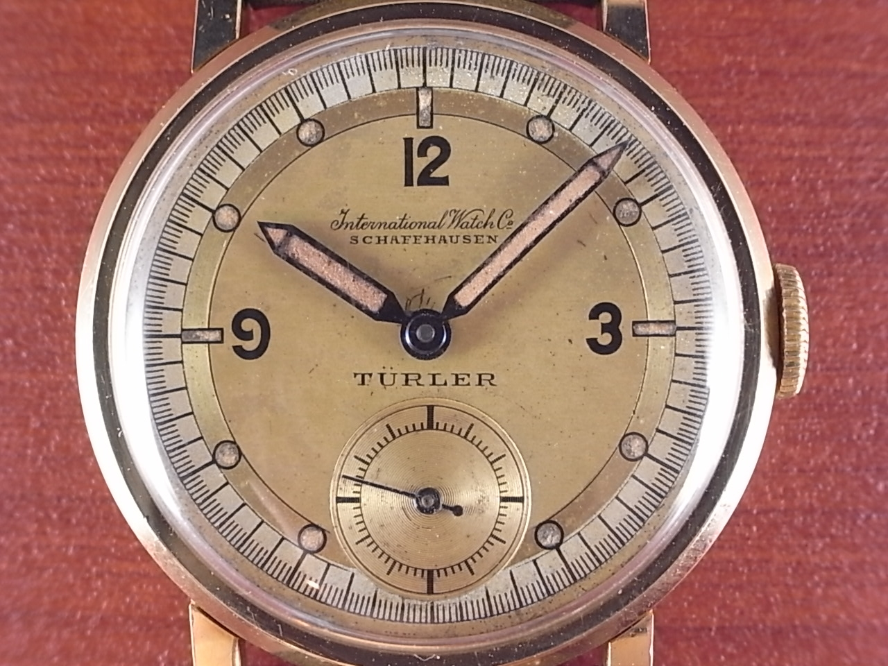 IWC インター チューラーWネーム 18KYG Cal.83 デコダイアル 1930年代の写真2枚目