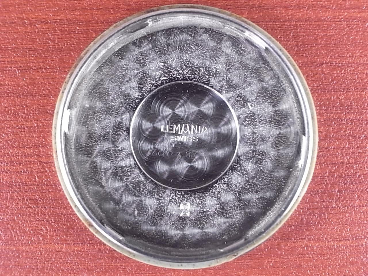 レマニア ブラックダイアル センターセコンド スクリューバック 1940年代の写真6枚目
