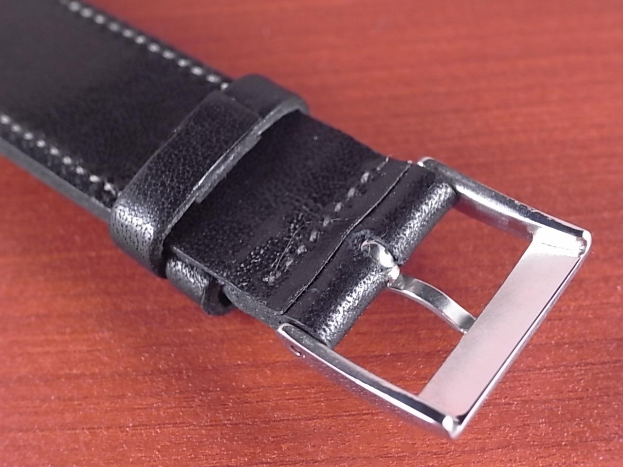 艶ありヌメ牛ステア オープンエンド 革ベルト ブラック 16、18mm CC-034bの写真4枚目
