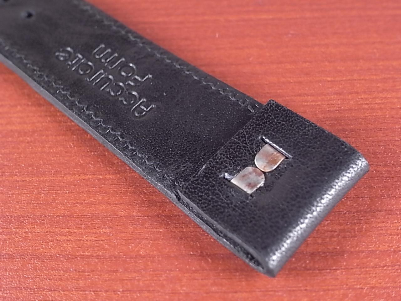 艶ありヌメ牛ステア オープンエンド 革ベルト ブラック 16、18mm CC-034bの写真5枚目