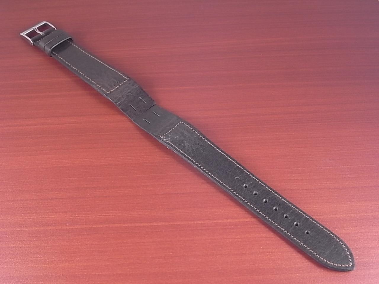 艶ありヌメ牛ステア オープンエンド 革ベルト ダークブラウン 16、18、20mm CC-035bのメイン写真
